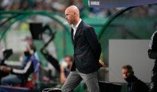 تين هاغ: إستمتعت بأداء فريقي أمام سبورتينغ لشبونة