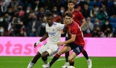 الليغا: ريال مدريد يستعيد الصدارة بالرغم من تعادله السلبي امام اوساسونا