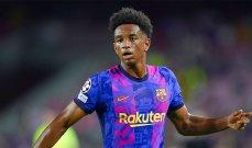 برشلونة يكشف نوعية اصابة مدافعه الشاب بالدي