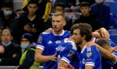 التصفيات الاوروبية لمونديال قطر 2022: البوسنة تحقق فوزها الاول على حساب كازاخستان وليتوانيا تتخطى بلغاريا بثلاثية