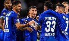 الدوري الاوروبي: ليفركوزن يكتسح سلتيك وفوز لاتسيو ووست هام وتعادل مارسيليا