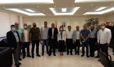 وفد اتحاد الكرة الطائرة زار الوزيرة اوهانيان