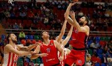 سيسكا موسكو يتخطى النجم الاحمر الصربي في اليوروليغ