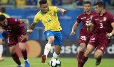تصفيات أميركا الجنوبية: البرازيل تفوز الارجنتين تتعادل وتشيلي تخسر من بيرو