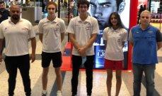 بعثة الاتحاد اللبناني للسباحة الى البطولة العربية بأبو ظبي