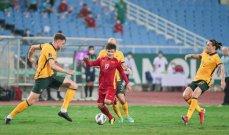 احصاءات من مباراة فيتنام واستراليا
