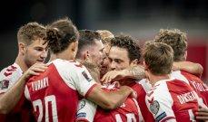 تصفيات مونديال 2022: الدنمارك تواصل مشوارها الرائع بالعلامة الكاملة