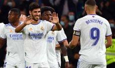 الدوري الإسباني: ريال يستعيد الصدارة بمهرجان تهديفي لأسينسيو وبنزيما