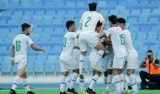 غرب اسيا للمنتخبات الأولمبية: فوز منتخب العراق امام فلسطين