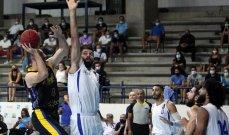 سلة لبنان : 318 نقطة للرياضي مقابل 270 للشانفيل في السلسلة النهائية