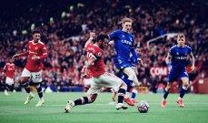 الدوري الإنكليزي: مانشستر يونايتد ينجو من الخسارة على أرضه أمام ايفرتون ويكتفي بالتعادل