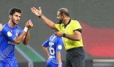هل ظلم الحكم فريق النصر امام شباب الاهلي دبي؟