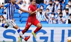 الدوري الإسباني: التعادل السلبي يخيّم على مباراة اشبيلية وريال سوسييداد