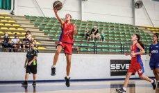 سلة : تواصل بطولة  لبنان للفئة العمرية  تحت 14