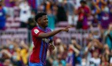 برشلونة يريد تجديد عقد فاتي قبل الكلاسيكو