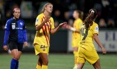 سيدات برشلونة يتصدرن المجموعة الثالثة من دوري ابطال اوروبا
