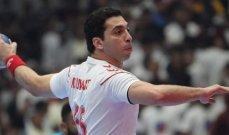 رقم مميز للاعب الزمالك احمد الاحمر في مونديال اليد