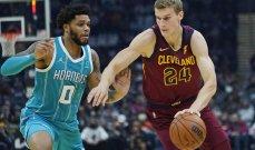 NBA: هورنيتس يفوز على كفالييرز ويرفع رصيده الى انتصارين متتاليين