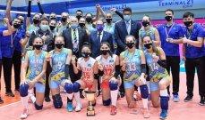بطولة الأندية الآسيوية للكرة الطائرة : التاي بطل السيدات وسيرجان فولاد للرجال