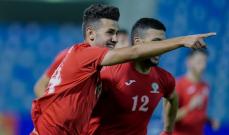 غرب اسيا تحت 23: لبنان يسقط امام فلسطين برباعية