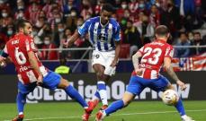 الليغا: سوسييداد يستعيد الصدارة من الميرينغي بتعادل مثير امام اتلتيكو مدريد