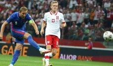احصاءات عن انكلترا بعد التعادل مع بولندا