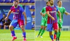 اغويرو يشارك لاول مرة مع برشلونة