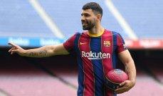 اغويرو يسجل هدفه الأول لبرشلونة