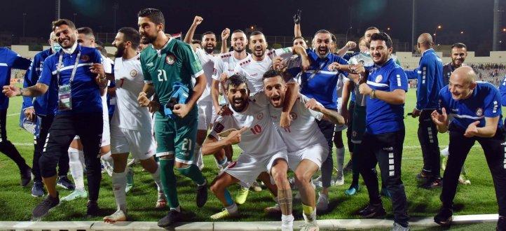 ابرز مجريات مباراة منتخب لبنان ونظيره السوري