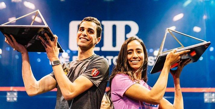نوران جوهر وعلي فرج يتوجان  بلقب بطولة مصر للاسكواش