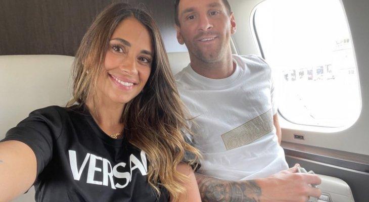 ميسي وأنتونيلا في الطريق إلى باريس
